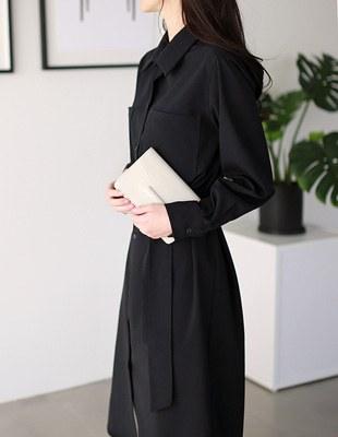 Quartz Long Shirt Dress