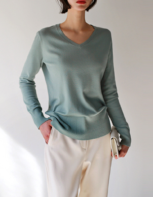 soft v neck - knit