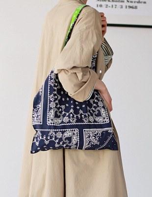 square paisley bag